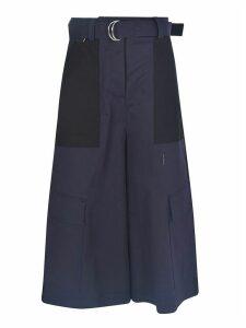 MSGM Flared Cropped Bermuda Shorts