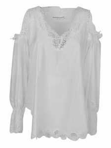 Ermanno Scervino Longsleeved Lace Top