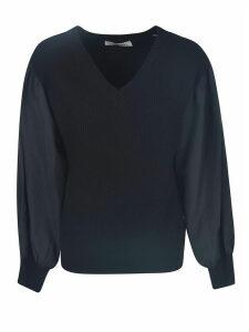 Valentino V-neck Ribbed Top