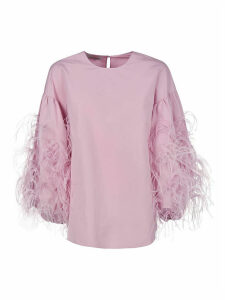 Valentino Feather Trim Blouse