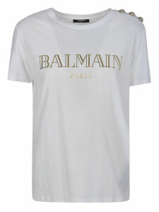 Balmain Metallic Vintage Logo T-shirt