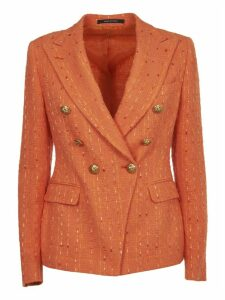 Tagliatore Orange Double-breasted Jacket