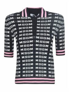 MSGM Ribbed Knit Logo Sweater