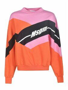 MSGM Oversized Logo Print Sweatshirt