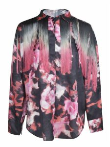 MSGM Tassel Applique Floral Shirt