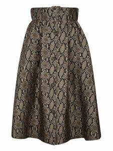 MSGM Snake Skin Printed Skirt