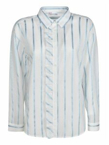 RED Valentino Stripe Ruffled Shirt