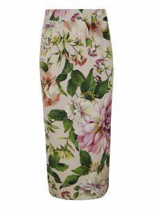 Dolce & Gabbana Floral Slim Skirt