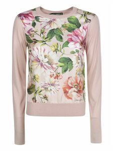 Dolce & Gabbana Floral Ribbed Sweater