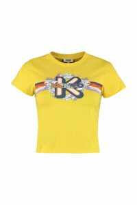 Kenzo Printed Cropped T-shirt