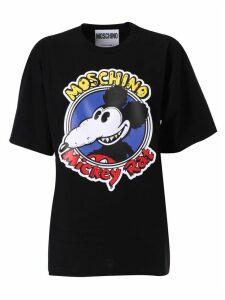 Moschino Mickey Rat Print T-shirt