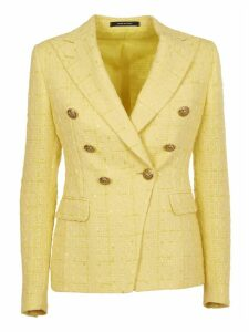 Tagliatore Yellow Double-breasted Jacket