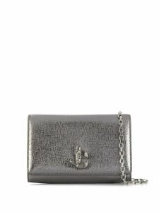 Jimmy Choo logo plaque Palace cross body bag - SILVER