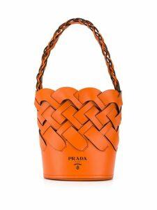 Prada woven bucket bag - ORANGE