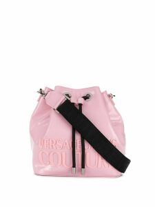 Versace Jeans Couture branded small bucket bag - PINK