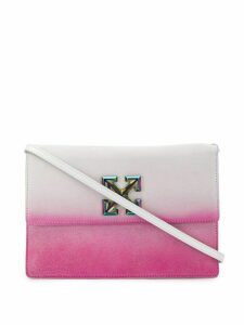 Off-White Jitney sprayed-effect clutch - PINK