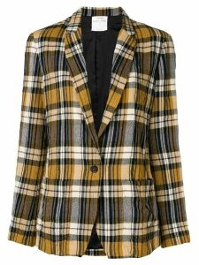 Forte Forte checked blazer - Yellow