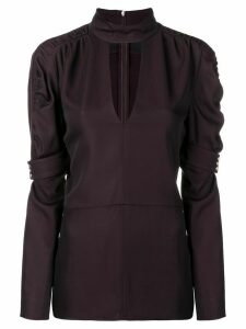 Chloé puff sleeve blouse - Brown