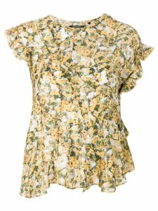 Isabel Marant floral printed blouse - Yellow