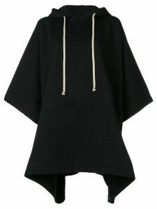 Rick Owens DRKSHDW cape style hoodie - Black