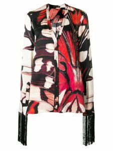 Alexander McQueen butterfly print blouse - Black