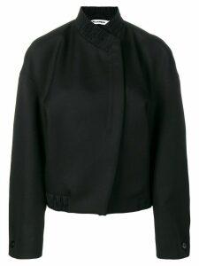 Jil Sander oversized wool jacket - Black