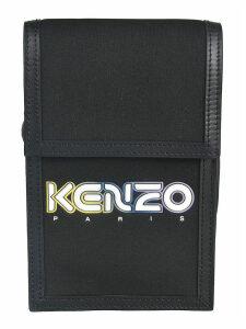 Kenzo Logo Print Flap Bag
