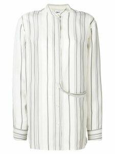 Jil Sander Giusy striped shirt - White