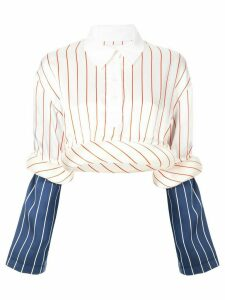 Charles Jeffrey Loverboy striped contrast blouse - Multicolour