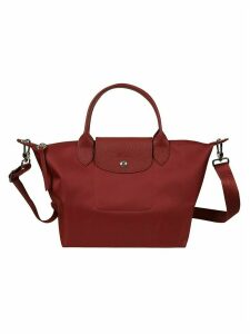 Longchamp Detachable Strap Flap Lock Tote