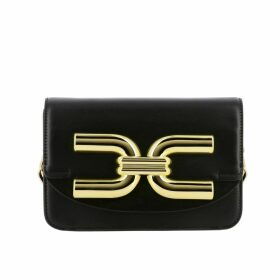 Elisabetta Franchi Mini Bag Elisabetta Franchi Shoulder Bag In Leather With Maxi Logo