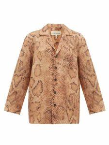 Mara Hoffman - Iris Snake-print Shirt - Womens - Brown Print