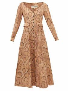 Mara Hoffman - Silvana Snake-print Tencel-blend Shirtdress - Womens - Cream Print