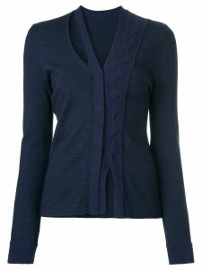 Onefifteen twist front knit cardigan - Blue
