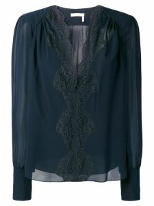 Chloé lace panel blouse - Blue