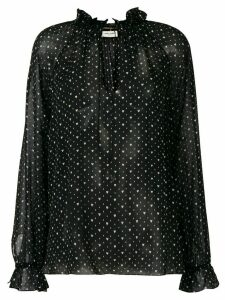 Saint Laurent heart-print blouse - Black