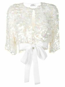 P.A.R.O.S.H. sequin cropped jacket - White