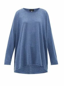 Eskandar - Boat-neck Cashmere Sweater - Womens - Blue