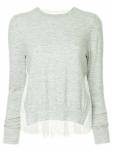Onefifteen lace panel top - Grey