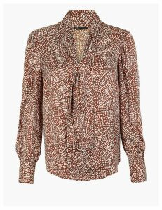M&S Collection Satin Printed Blouse