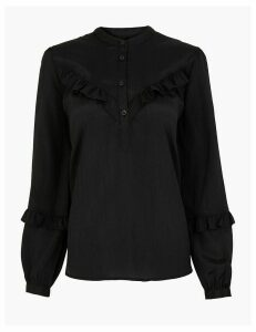 M&S Collection Ruffled High Neck Blouse