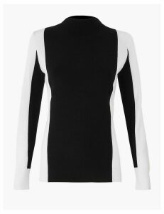 Autograph Colour Block Turtle Neck Jumper