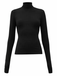 Bottega Veneta - High-neck Crepe Top - Womens - Black
