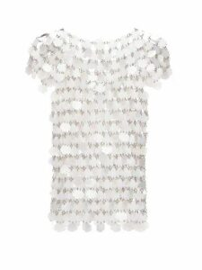 Paco Rabanne - Sequinned Chainmail Top - Womens - White