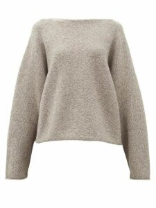 Lauren Manoogian - Boat-neck Alpaca-blend Sweater - Womens - Grey