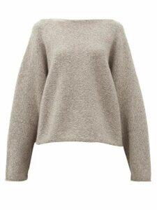 Lauren Manoogian - Boat-neck Alpaca-blend Sweater - Womens - Grey