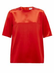 Raey - Crew-neck Silk-satin Top - Womens - Red