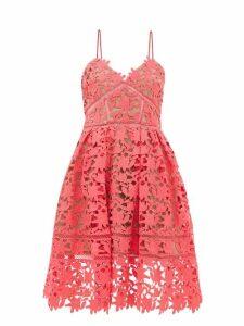 Self-portrait - Azaelea Floral Guipure-lace Dress - Womens - Pink