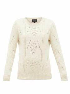 A.p.c. - Lucrecia Pima-cotton Sweater - Womens - Ivory