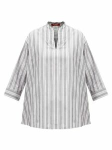 Max Mara Studio - Pompei Blouse - Womens - Black White